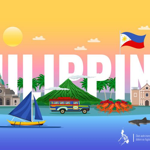 Philippines Horizontal Illustration